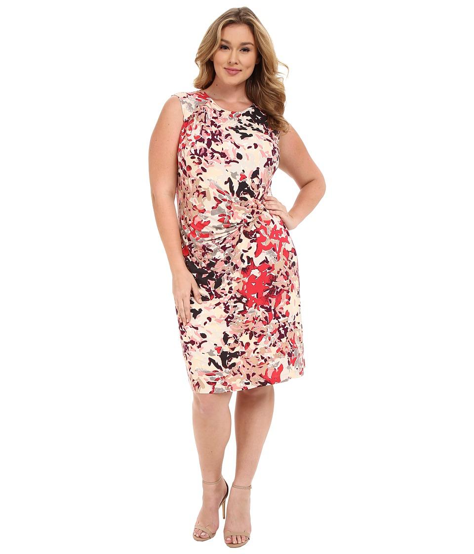 NIC+ZOE - Plus Size Petal Showers Twist Dress (Multi) Women's Dress