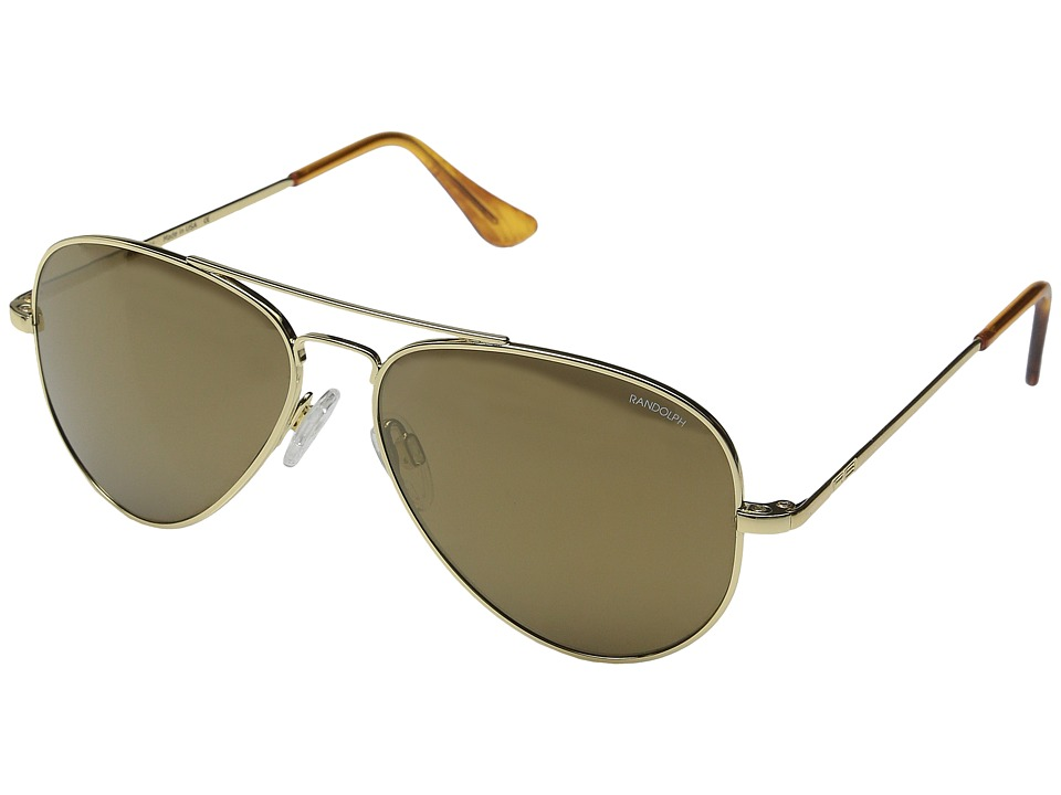 Randolph - Concorde 57mm (23K Gold/Bronze Flash PC in Skull Temple) Fashion Sunglasses