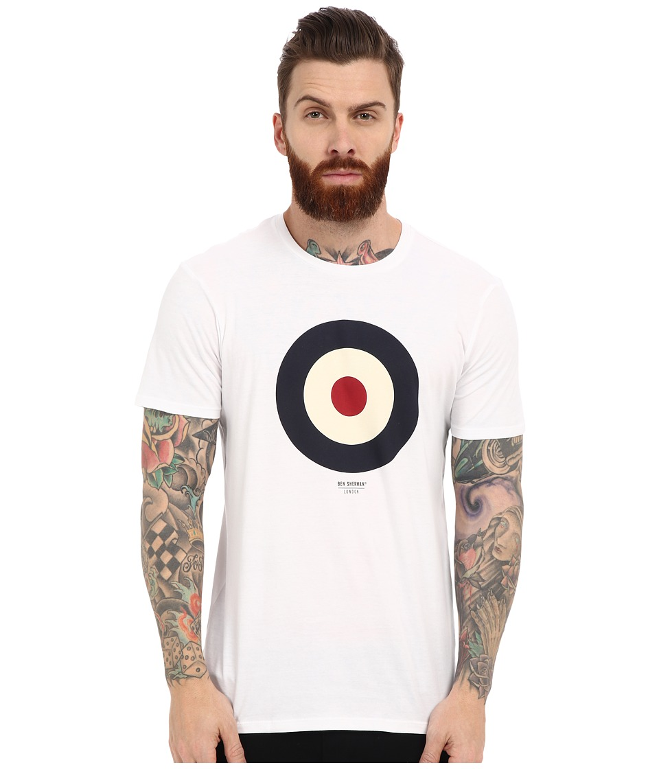 Ben Sherman - Short Sleeve Basic Target Tee MB12872 (Bright White) Men's T Shirt