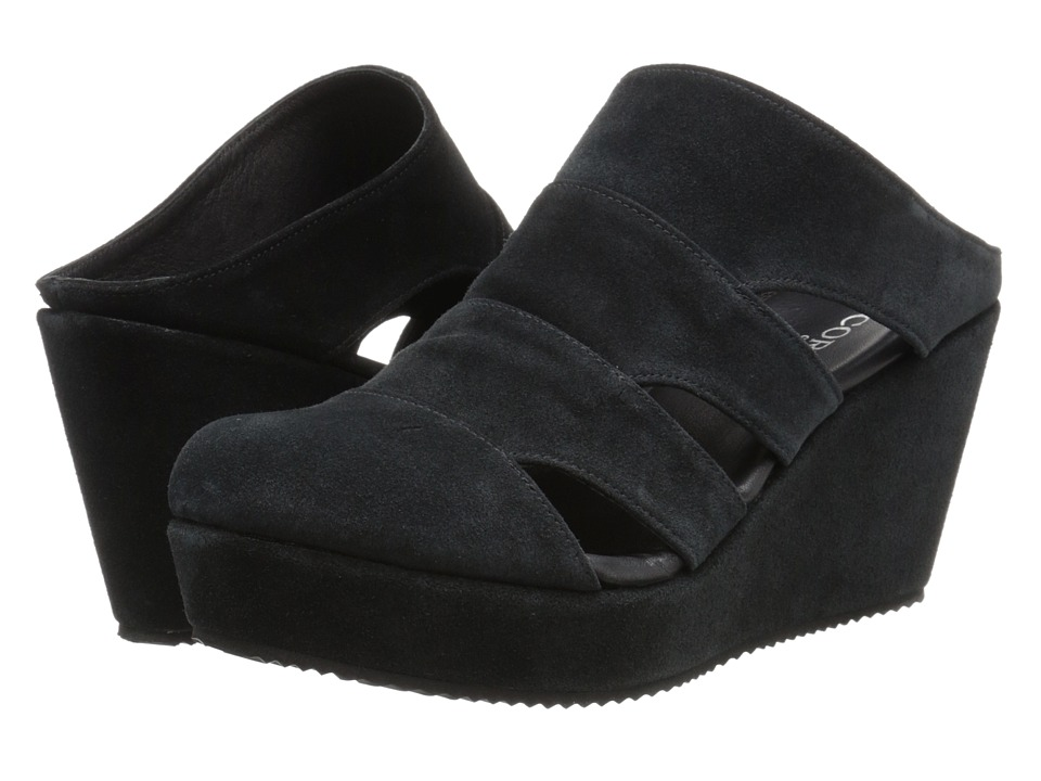 Cordani - Flint (Black Suede) Women's Wedge Shoes