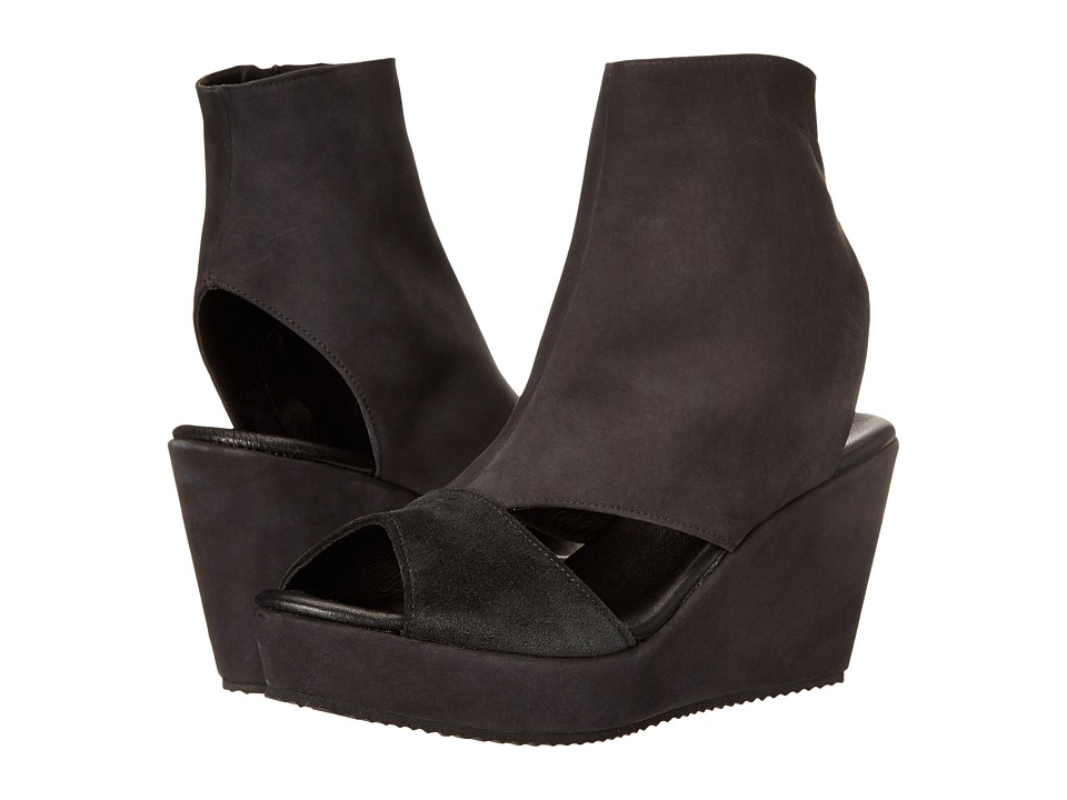 Cordani - Fen (Black Nubuck) Women's Wedge Shoes