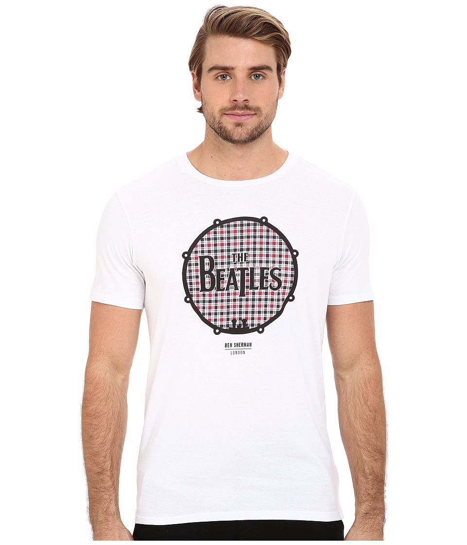 Ben Sherman - Short Sleeve Beatles Drum Logo Tee MB12742 (Bright White) Men