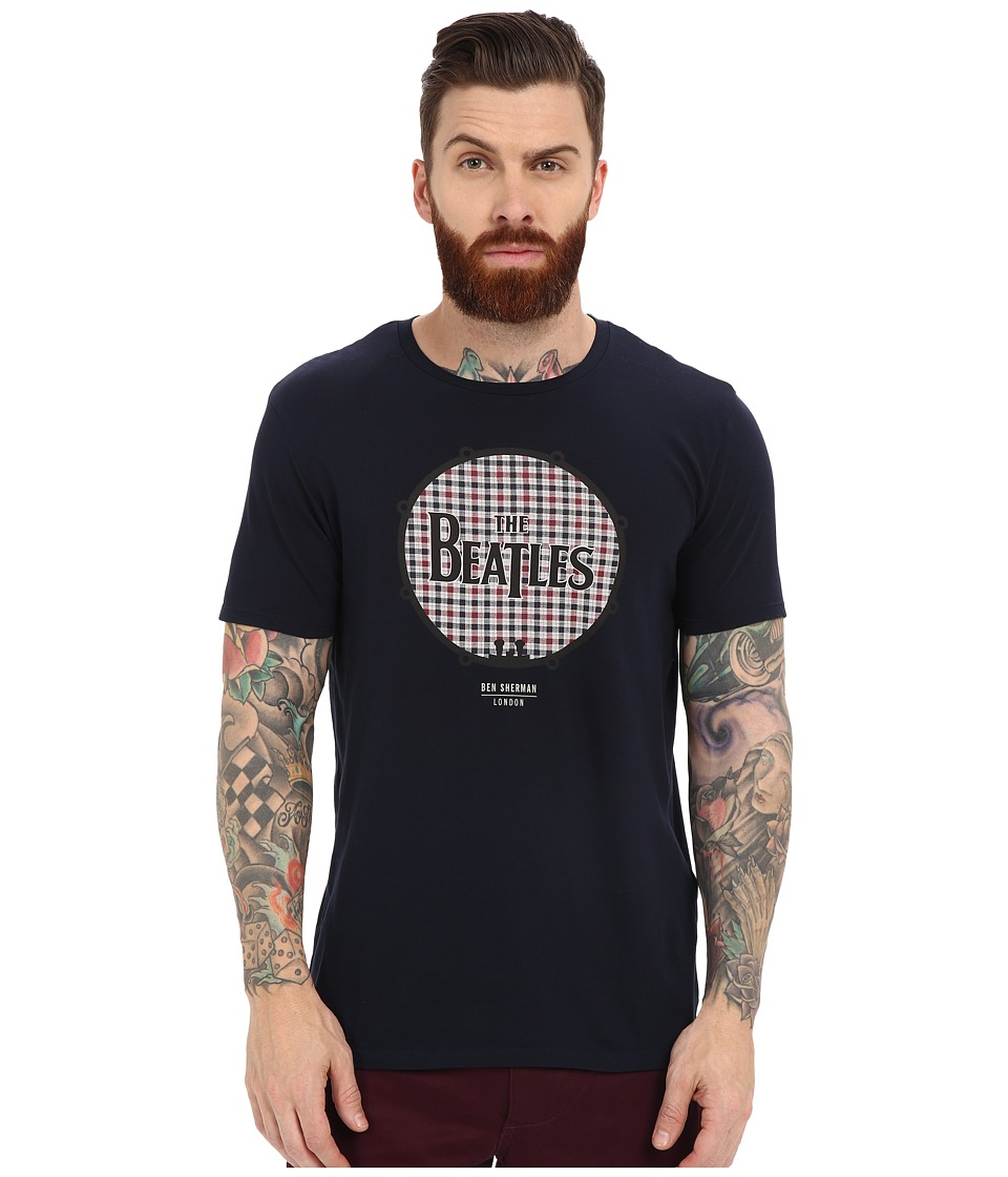 Ben Sherman - Short Sleeve Beatles Drum Logo Tee MB12742 (Navy Blazer) Men's T Shirt