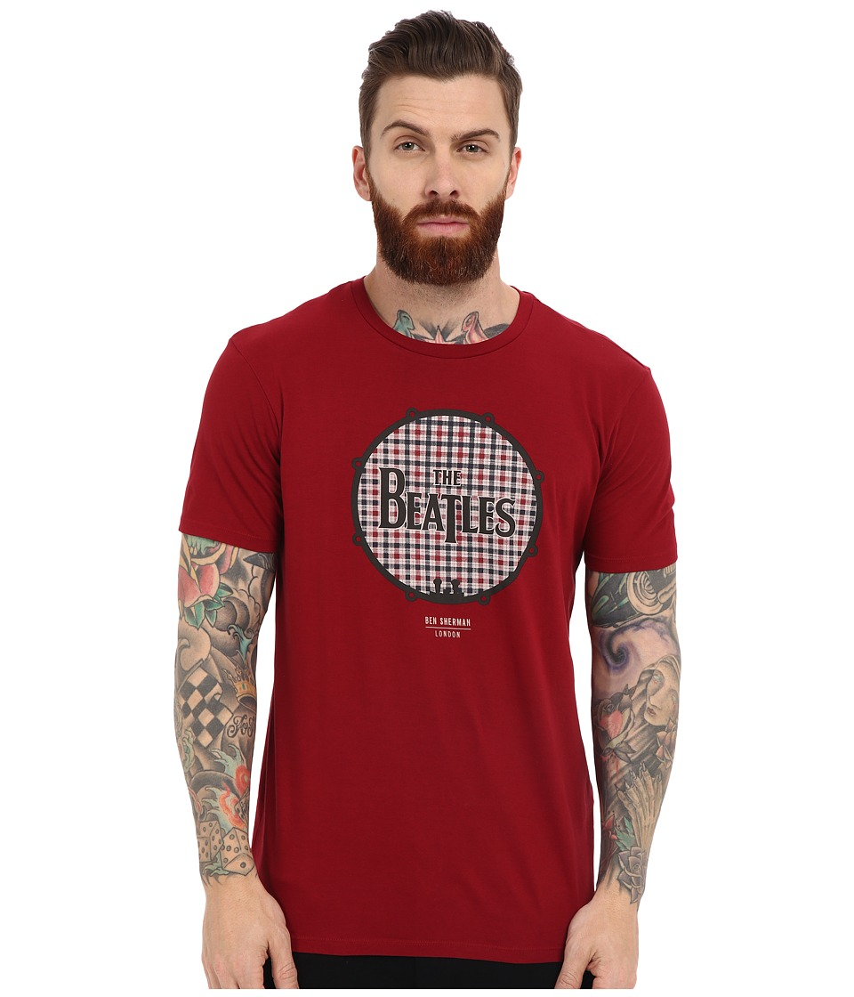 Ben Sherman - Short Sleeve Beatles Drum Logo Tee MB12742 (Biking Red) Men's T Shirt