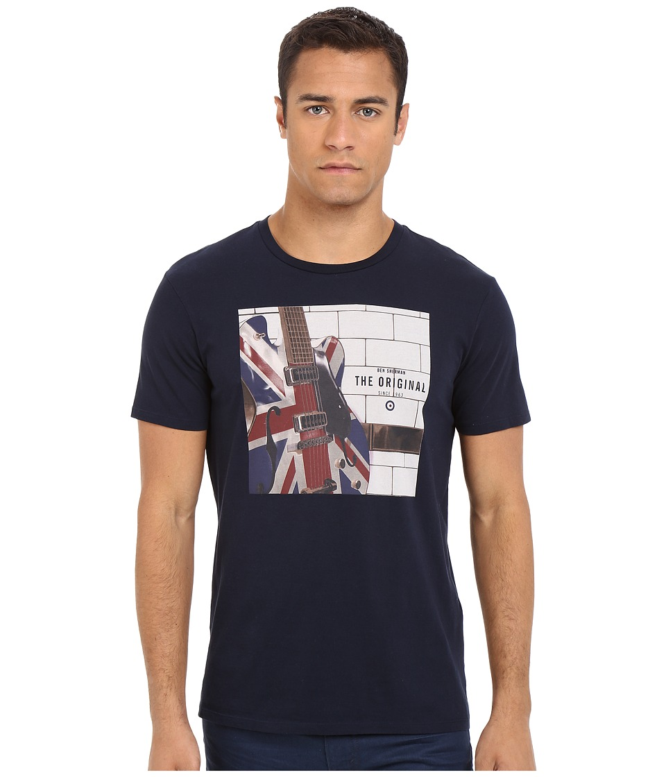 Ben Sherman - Short Sleeve Electric Union Jack Tee MB12314 (Navy Blazer) Men's Short Sleeve Pullover