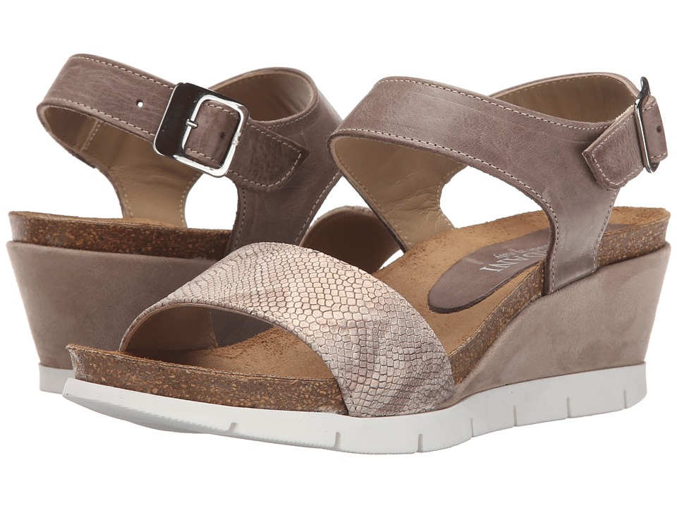 Cordani - Aiden (Marrone Suede/Python) Women's Wedge Shoes