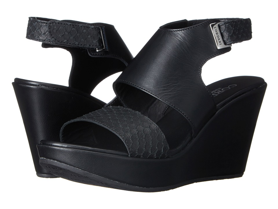 Cordani - Roberts (Black Suede/Leather) Women's Wedge Shoes