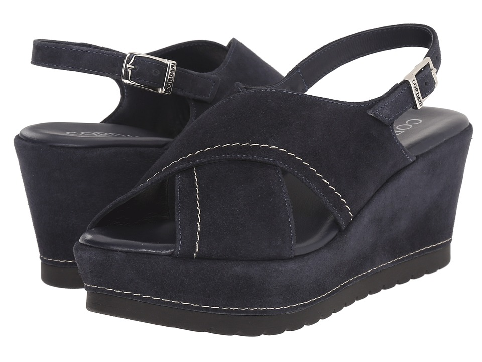 Cordani - Delight (Navy Suede) Women's Wedge Shoes