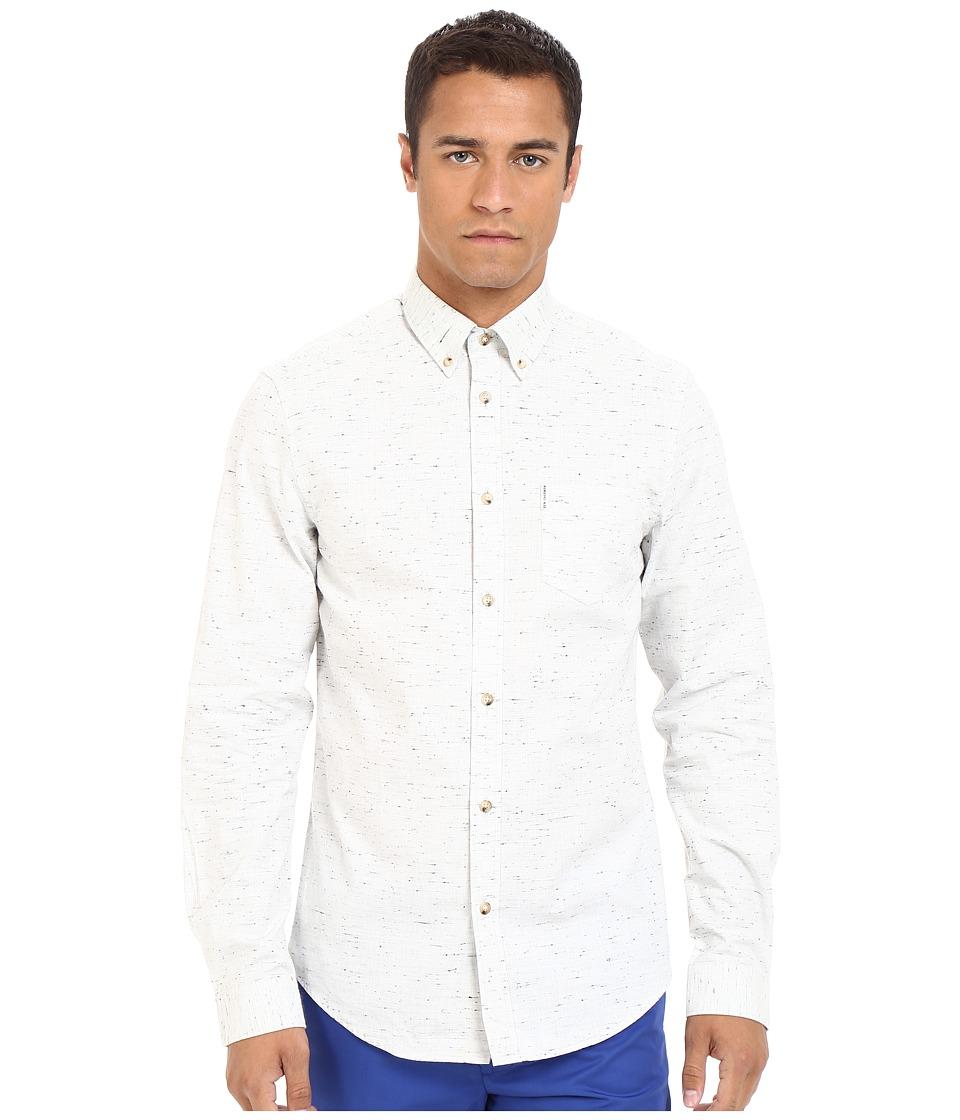 Ben Sherman - Long Sleeve Slub Woven MA12408A (Off-White) Men's Clothing