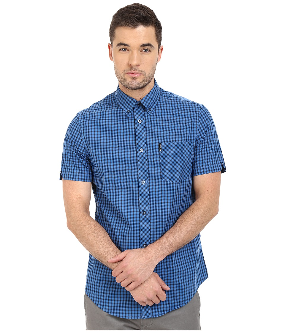 Ben Sherman - Heritage House Check S/S Shirt (Ocean Blue) Men's Short Sleeve Button Up