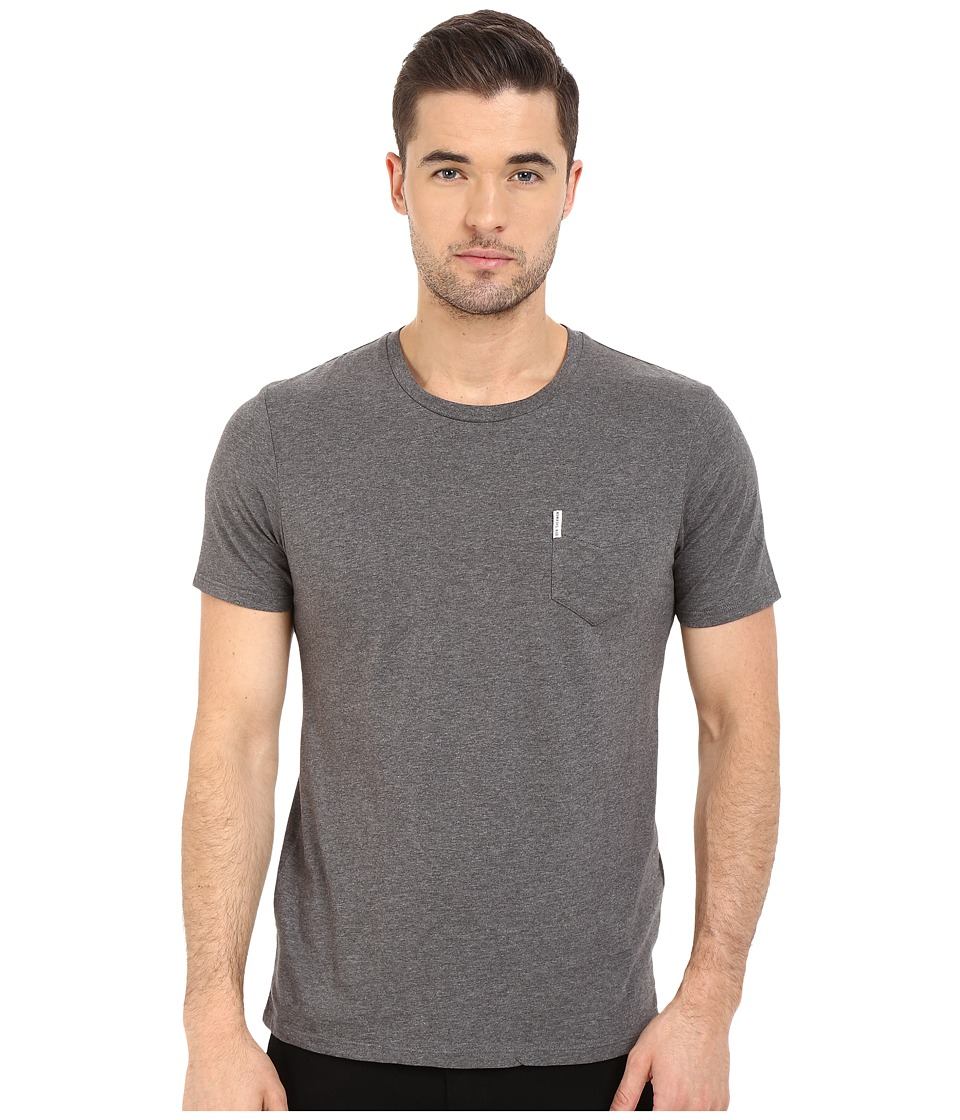 Ben Sherman - Short Sleeve Plain Pocket Crew Tee MB12340A (Concrete Marl) Men's T Shirt