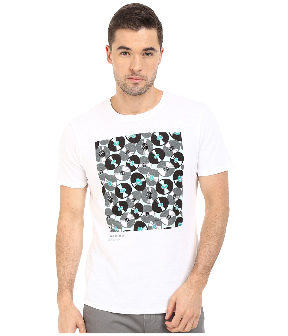 Ben Sherman - Short Sleeve London Vinyl Graphic Tee MB12318 (Bright White) Men's T Shirt