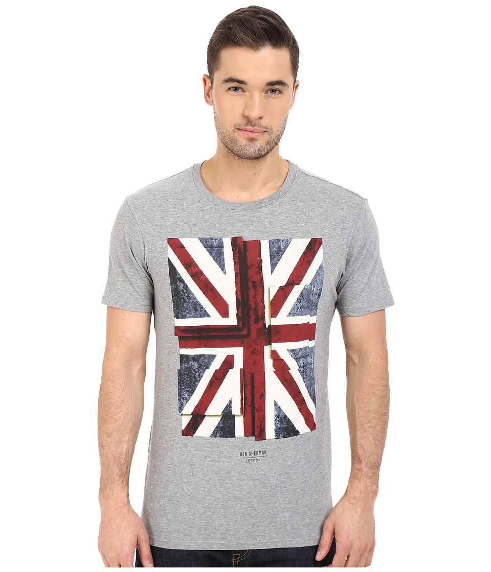 Ben Sherman Short Sleeve Union Jack Tee MB12315 (Silver Chalis) Men