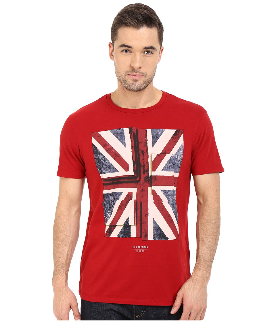 Ben Sherman Short Sleeve Union Jack Tee MB12315 (Dawn Red) Men
