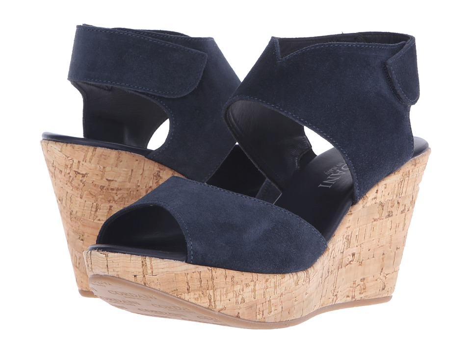 Cordani - Rhonda (Navy Suede/Cork) Women's Wedge Shoes