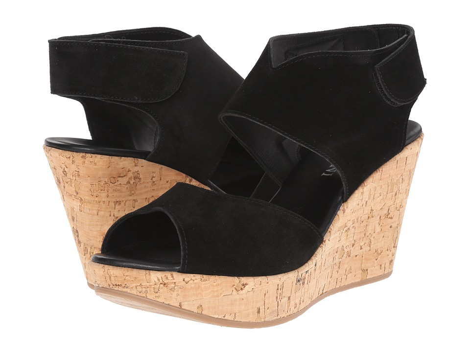 Cordani - Rhonda (Black Suede/Cork) Women's Wedge Shoes