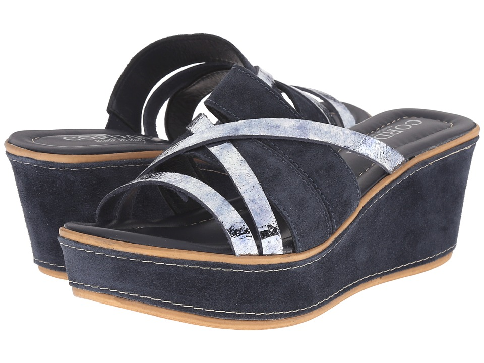 Cordani - Kalani (Navy/Silver) Women's Wedge Shoes