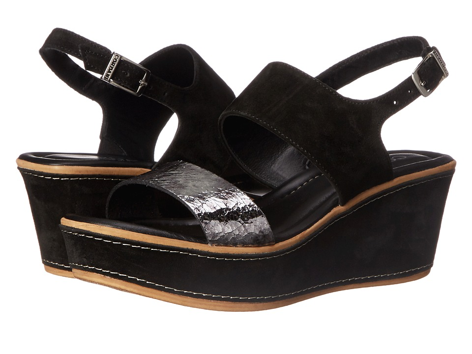 Cordani - Karlee (Black/Pewter) Women's Wedge Shoes