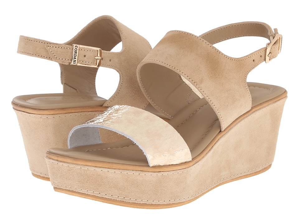 Cordani - Karlee (Crema/Platinum) Women's Wedge Shoes