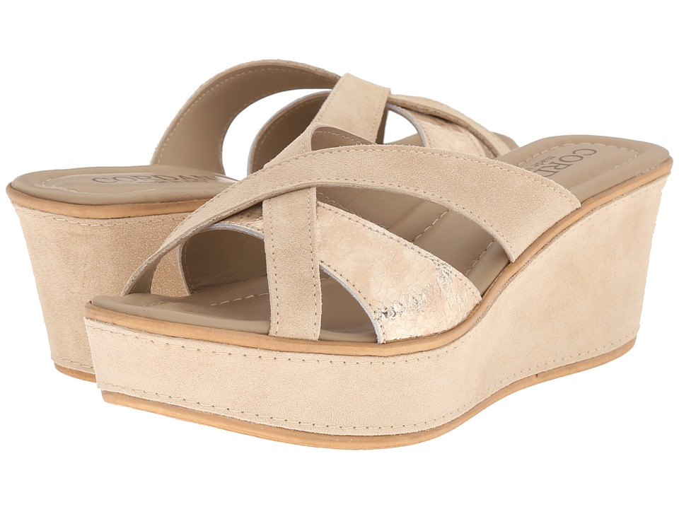 Cordani - Kirstie (Sabbia/Platinum) Women's Wedge Shoes