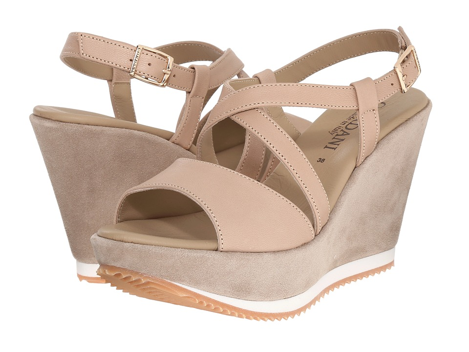 Cordani - Rashelle (Nude Suede) Women's Wedge Shoes
