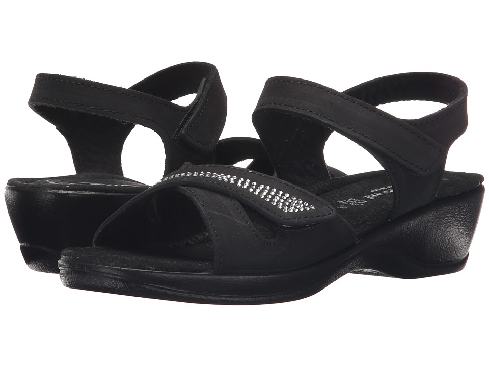 Spring Step - Caric (Black) Women's Wedge Shoes