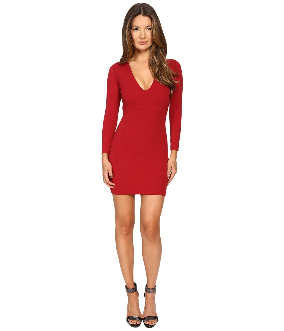 DSQUARED2 - Wool Jersey Dress (Red) Women's Dress
