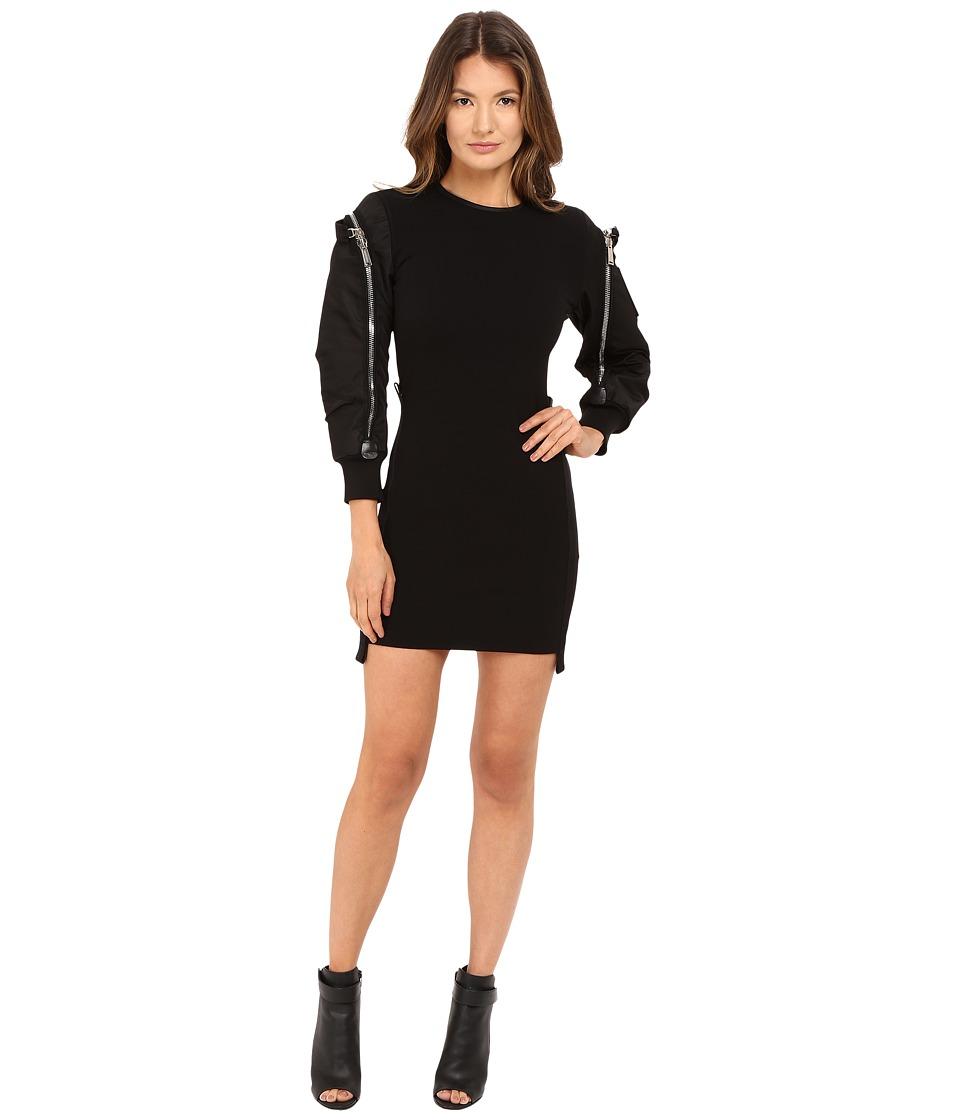 DSQUARED2 Wool Jersey Dress (Black) Women