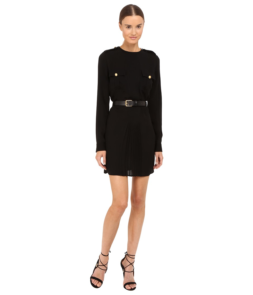 DSQUARED2 - Silk Georgette Dress (Black) Women's Dress