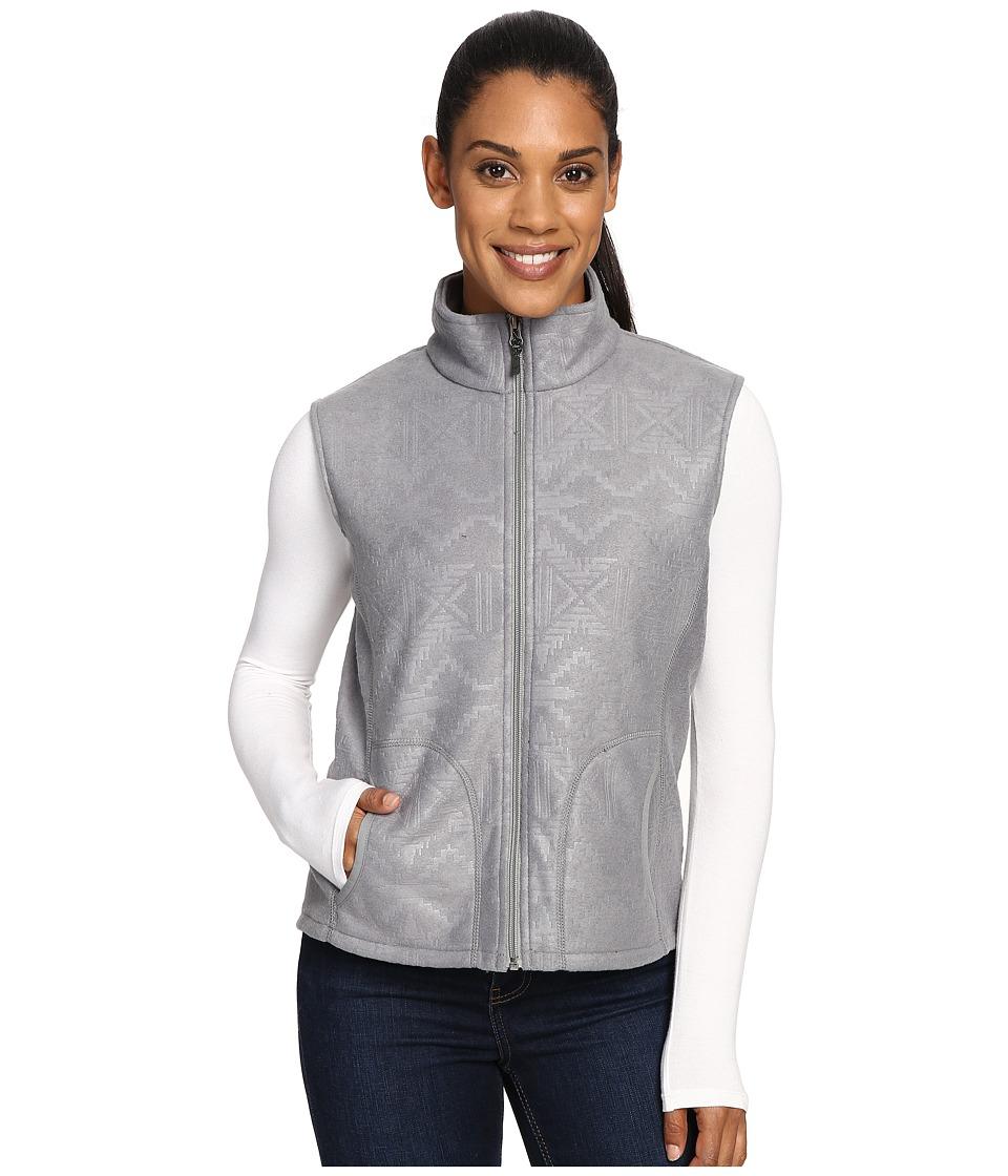 Woolrich - Andes Printed Fleece Vest (Stoneware) Women's Vest