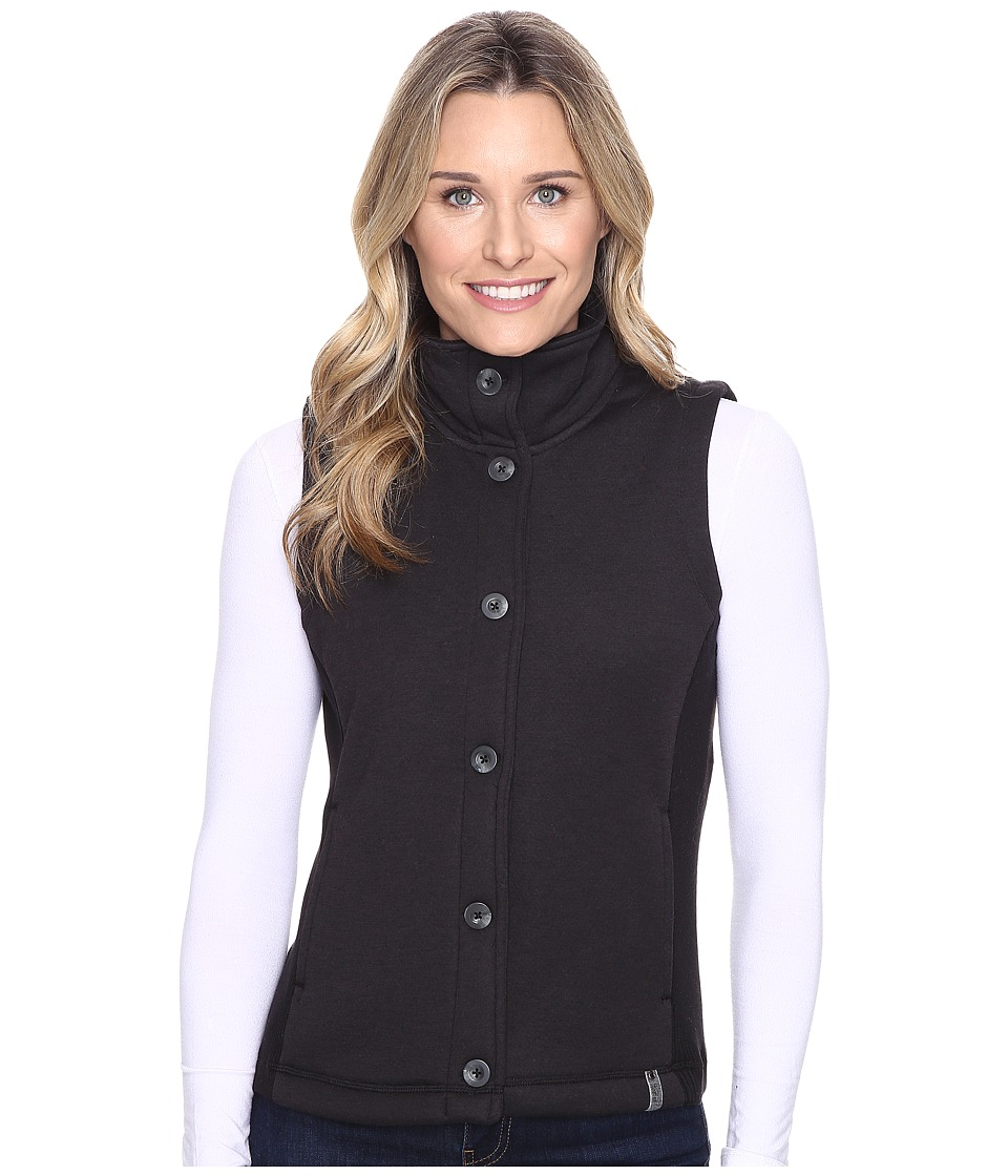 Woolrich - Alpine Wool Fleece Vest (Black Heather) Women's Vest