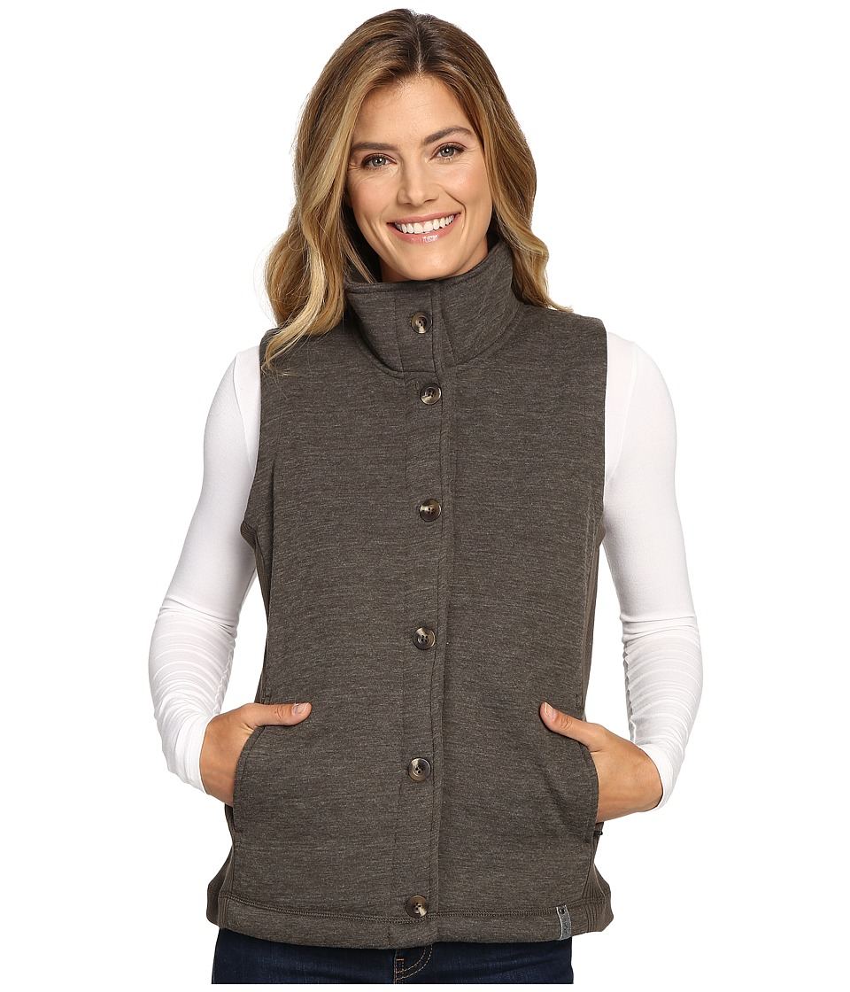 Woolrich - Alpine Wool Fleece Vest (Matte Gray Heather) Women's Vest