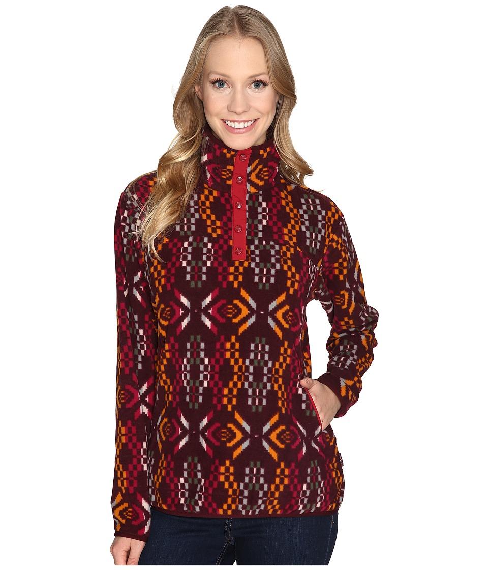 Woolrich Trail Blazing Printed Pullover (Wine) Women