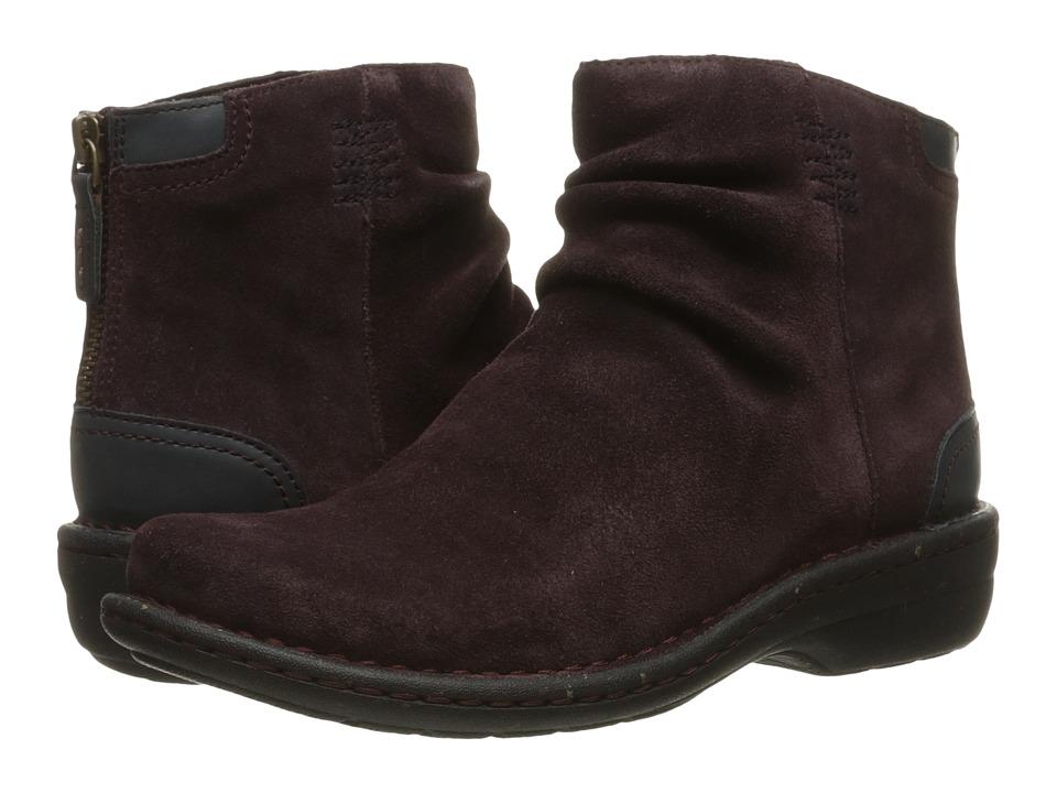 Clarks - Avington Swan (Aubergine Combo Suede) Women's Boots