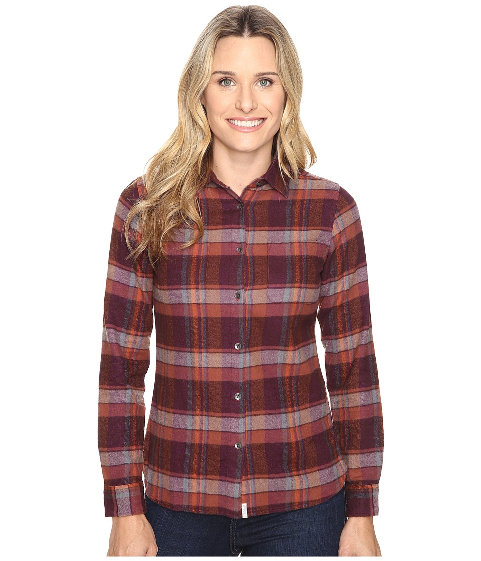 Woolrich - The Pemberton Shirt (Burgundy) Women's Long Sleeve Button Up