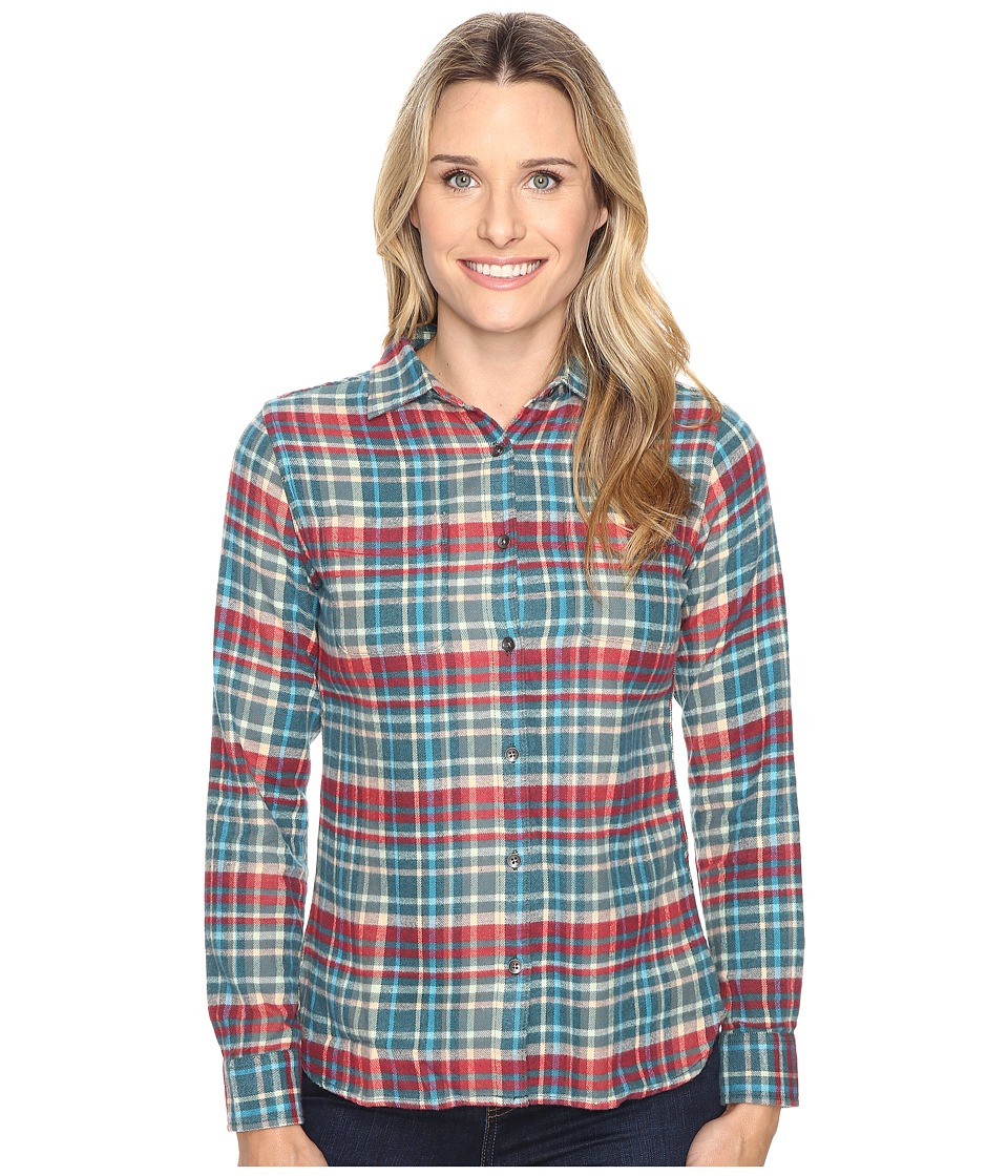 Woolrich - The Pemberton Shirt (Dark Teal) Women's Long Sleeve Button Up