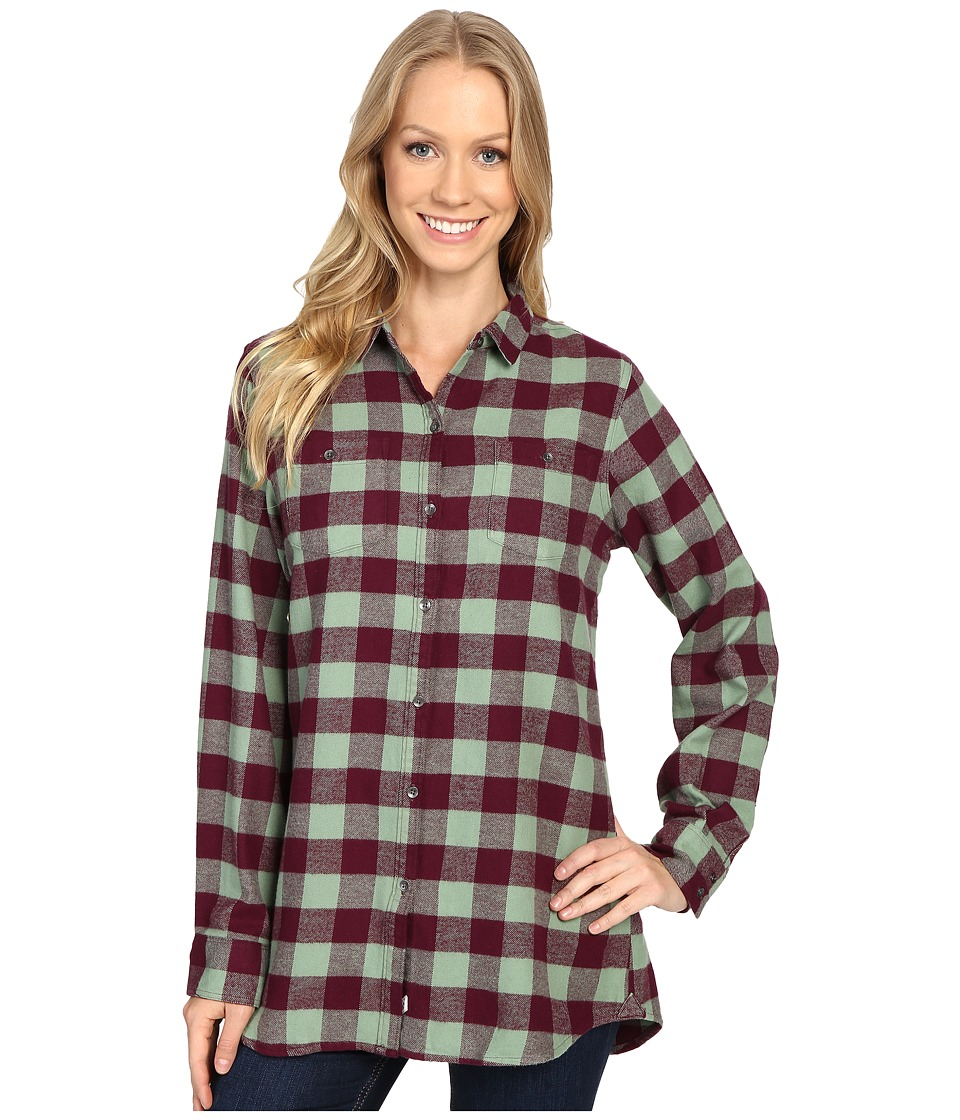 Woolrich - Buffalo Check Boyfriend Shirt (Fig Check) Women's Long Sleeve Button Up