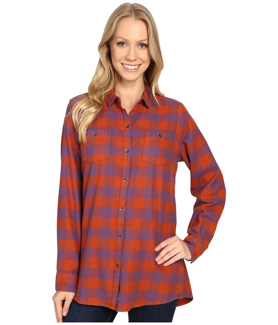 Woolrich - Buffalo Check Boyfriend Shirt (Red Rock Check) Women's Long Sleeve Button Up
