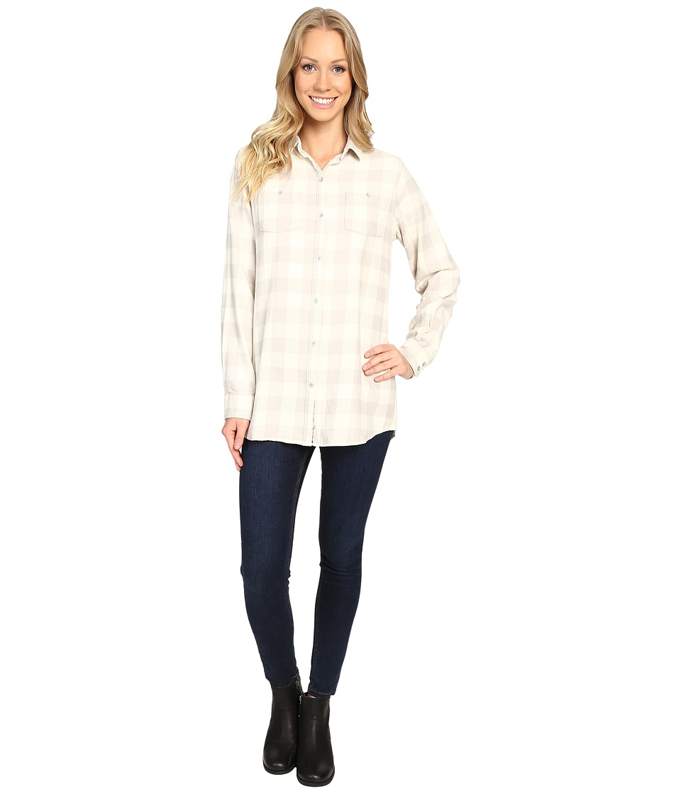 Woolrich - Buffalo Check Boyfriend Shirt (Silver Gray Check) Women's Long Sleeve Button Up