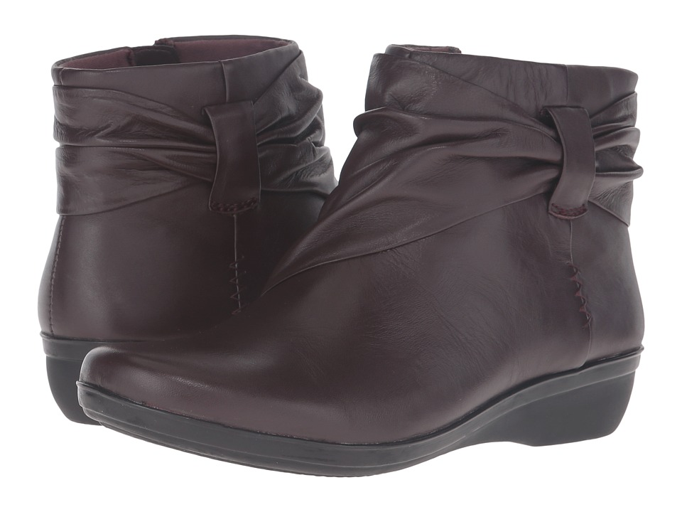 Clarks - Everlay Mandy (Aubergine Leather) Women's Shoes