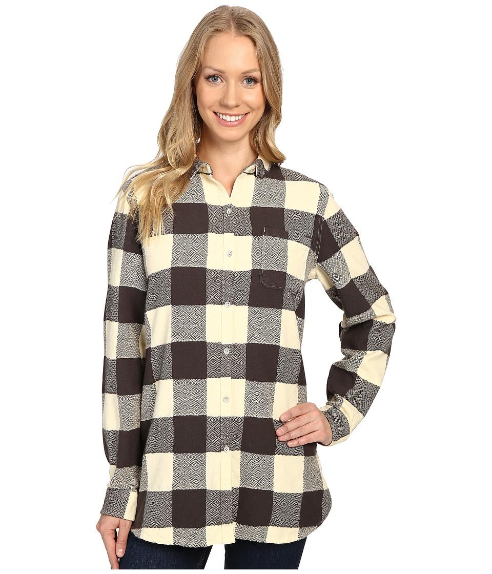 Woolrich - Oxbow Bend Tunic (Wool Cream Buffalo) Women's Long Sleeve Button Up