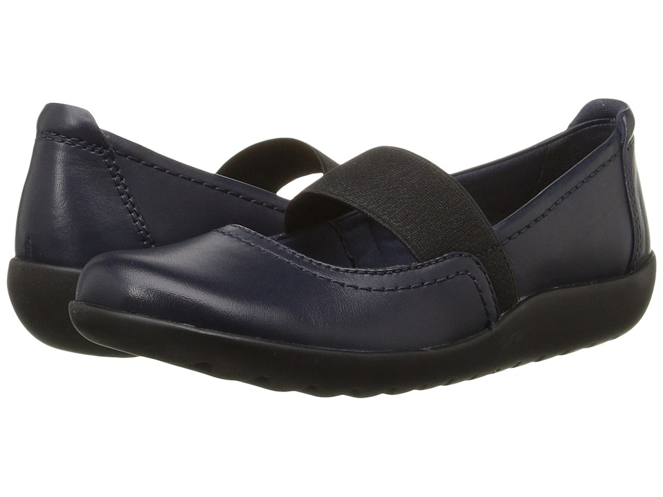 Clarks - Medora Ally (Navy Leather) Women's Shoes