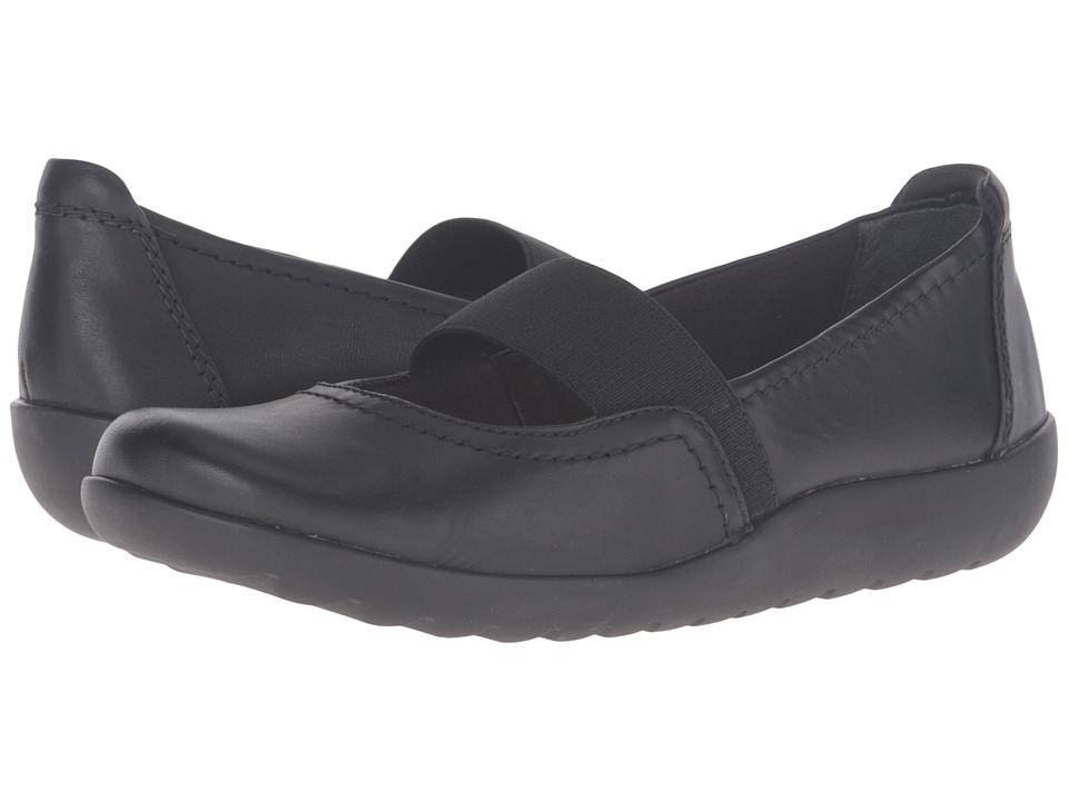 Clarks - Medora Ally (Black Leather) Women's Shoes