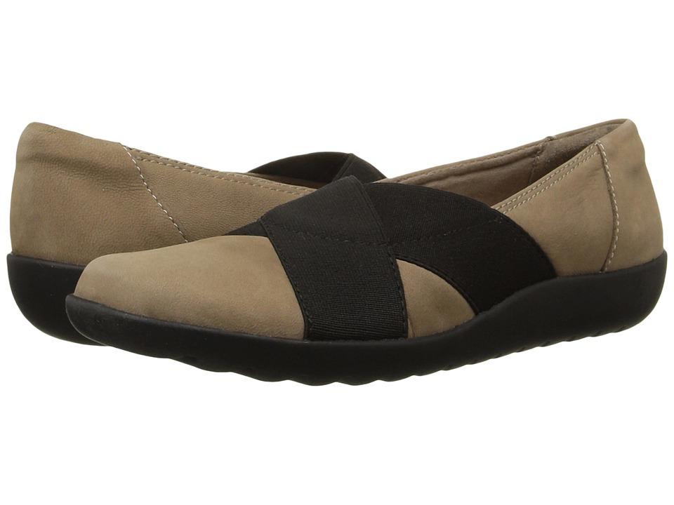 Clarks - Medora Jem (Mushroom Nubuck) Women's Shoes