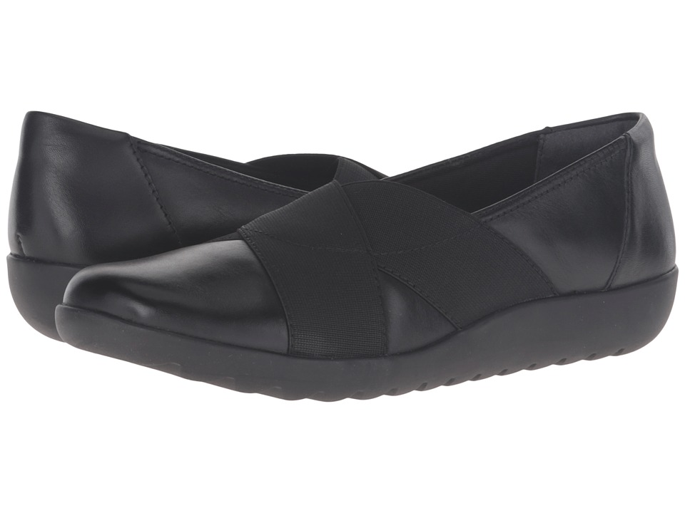 Clarks - Medora Jem (Black Leather) Women's Shoes