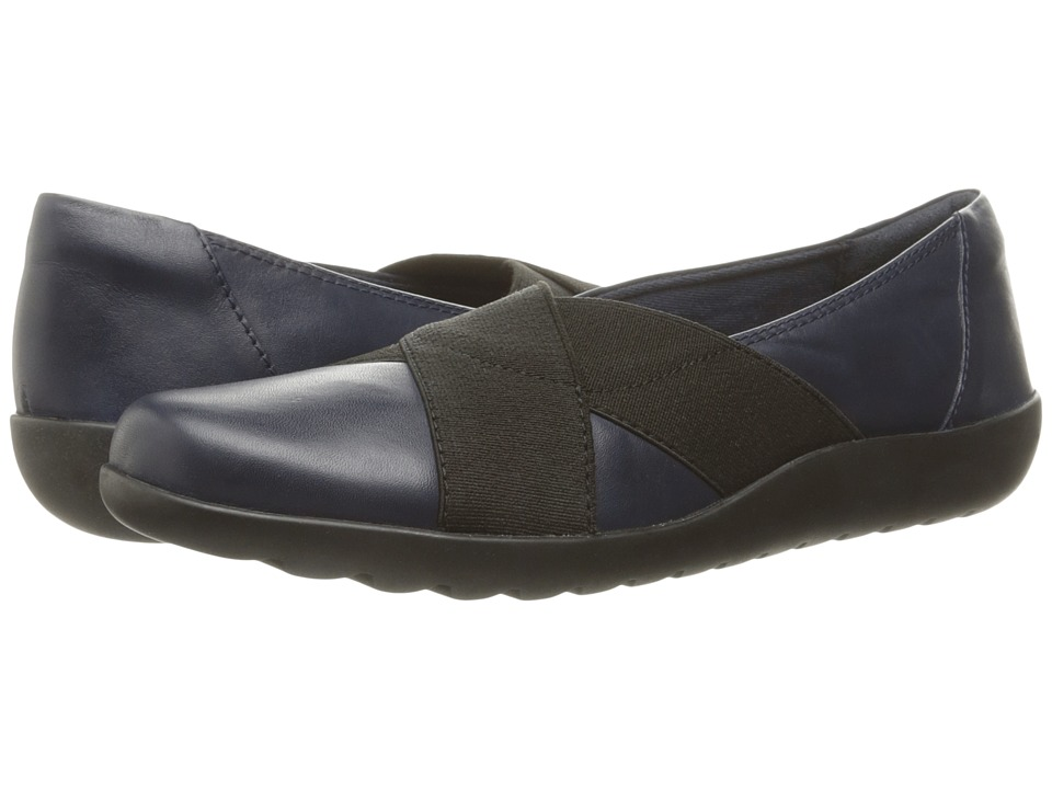 Clarks - Medora Jem (Navy Leather) Women's Shoes