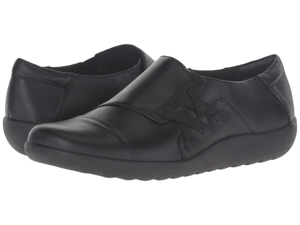 Clarks - Medora Sandy (Black Leather) Women's Shoes