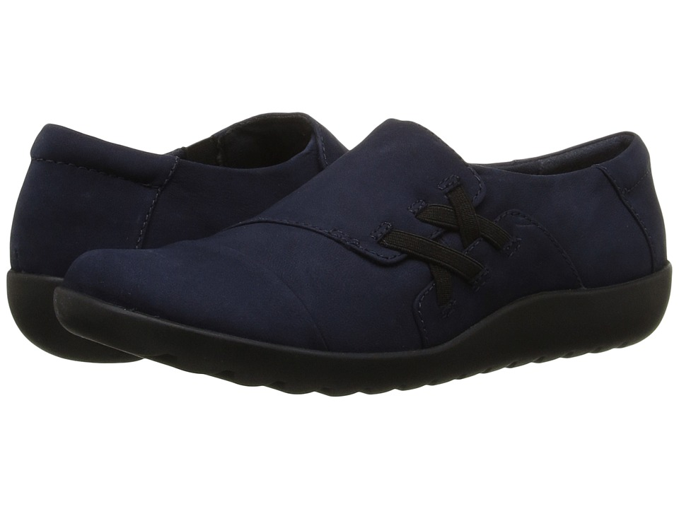 Clarks - Medora Sandy (Navy Nubuck) Women's Shoes