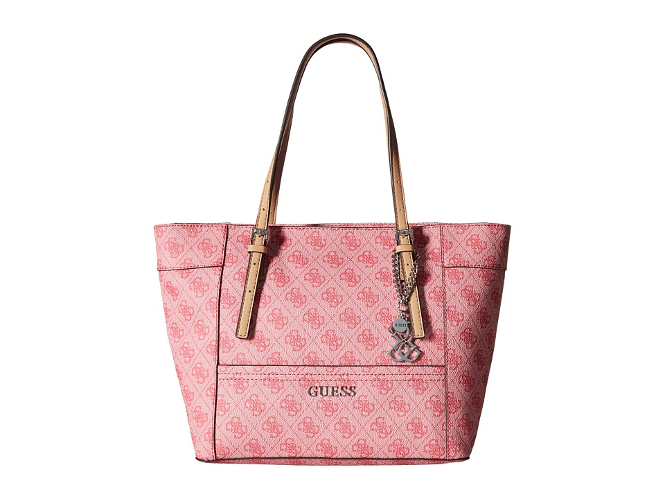 GUESS - Delaney Small Classic Tote (Cherry) Tote Handbags