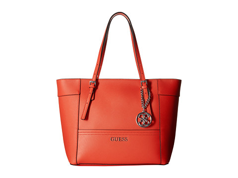 GUESS - Delaney Small Classic Tote (Poppy) Tote Handbags